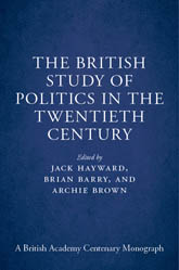 The British Study of Politics in the Twentieth Century
