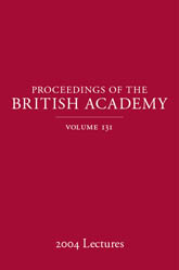 Proceedings of the British Academy, Volume 131, 2004 Lectures